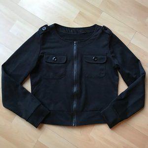 3/4 Sleeve Black Crop Sweater